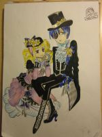 ciel and elizabeth by chbi-otaku