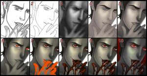 COLORING PROCESS by miki-mochi