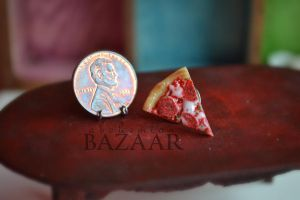 Pepperoni Pizza Pin by TheMiniatureBazaar
