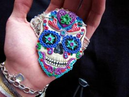 Sugar Skull Pendant by Creepy-Cute-Couture