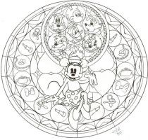 KH: Minnie Stained Glass WIP by CutenCuddlyPadfoot