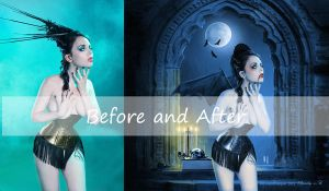 Before and After Vampire by LevanaTempest