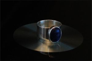 Sterling Ring with Sodalite by PMCWorks
