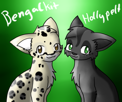 Bengalkit and Hollypelt by TwilightTheEevee
