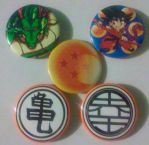 Dragon Ball Set of 5 buttons, Pinback 2.25 inches by MaverickTears