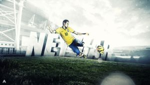 Neymar da Silva Wallpaper by AlbertGFX