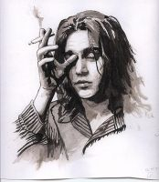 johnny depp greyscale by galeya