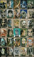 LOTR Masterpieces card set by lazesummerstone