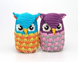 Seamless Amigurumi Owls by Stuffthebody