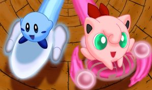 Blue Kirby and Amy by Galactic-Rainbow