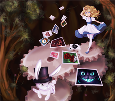 Alice in Wonderland by Chancetodraw