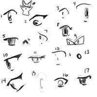 :.Eyes Sketch.: by MischiefJoKeR