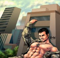 big BIG military beefy guy by karulox