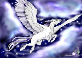 Mystic Pegasus by MidnightVixy