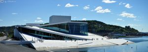 Panorama the new Opera in Oslo by Bull04