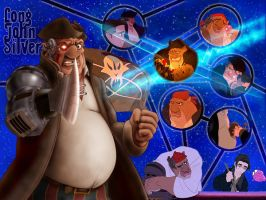 Treasure Planet, John Silver by PrincessTigerLili