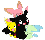 Pikachu with Babies Adoptables by ScarLightStar-Adopts