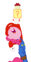 Pinkie Pie as Mario by SpikesMustache