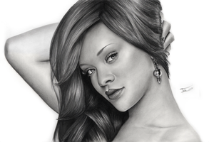 Rihanna Drawing by IvanJovanovic