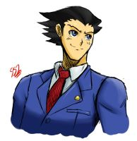 Phoenix Wright by ss2sonic