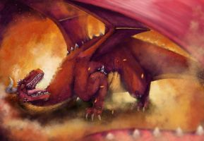 Red Dragon - Speedpaint by poisonmilow