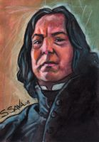 Severus Snape Sketch Card by ssava