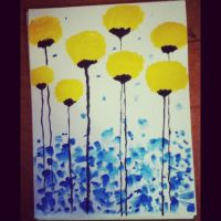 Yellow watercolor flower by KarenNicole97
