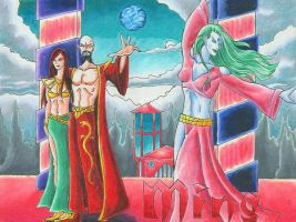 Ming the Merciless and Dale by jmsnooks