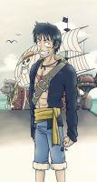 Captain Luffy - Thousand Sunny by FieryStampede