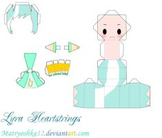 Lyra Heartstrings My little pony Papercraft by matryoshka12