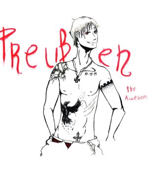 Prussia Tattoo by lullabyly