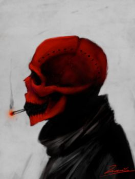 Red skull by TheDimensionKorr