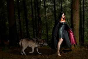 RED Riding Hood with Her Wolf by andrewishy