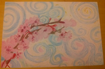 Oil Pastel Cherry Blossoms by Paige-the-unicorn