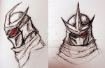 Shredder doodles by RedNightCrawler