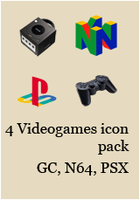 4 Videogames icon pack by Irialis