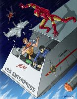 Iron Man vs Evil Kirk and Spock by andyjhunter