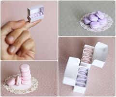 miniature macarons - Rose . Lavender by Aiclay