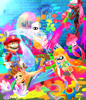 Splatoon splat party! by TakeoTheSavage