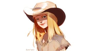 Cowgirl Sketch by CasCanete