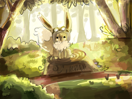 Daiki the Eevee: Commission by Teatime-Rabbit
