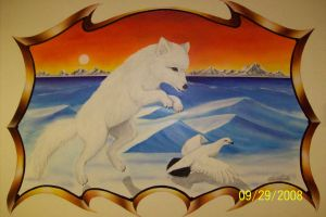 Artic fox by tomkush