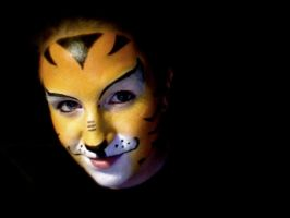 tiger face paint by wymyczak66