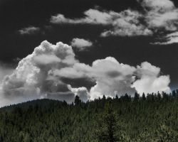 Clouds over the hill by flowersdaughter