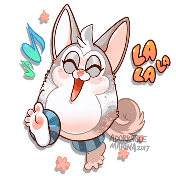 Tattletail OC YCH- Won't stop Singing! by AdorkableMarina