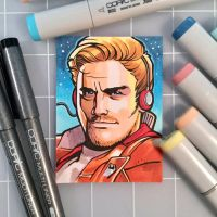 Star-Lord Sketch Card by D-MAC