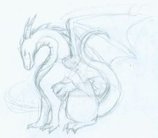 Dragon sketch 2 by cactuarZrule