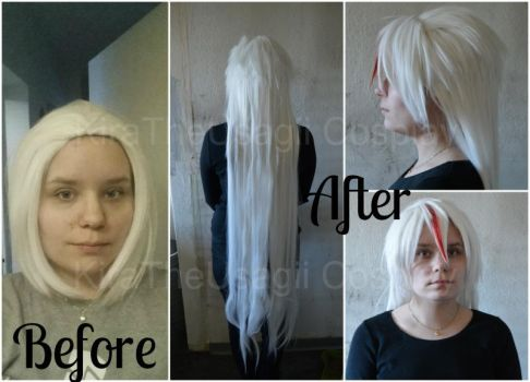 Astharoshe Asran wig: Before and After by KiraTheUsagii