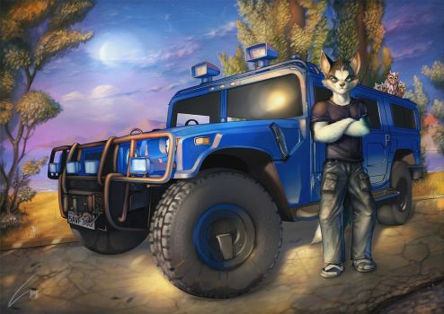 Chris and his car by LEPRI