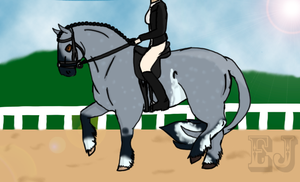 Kaimana Dressage Entry by EquestrianJade